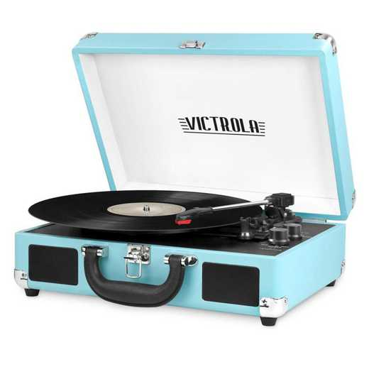 VSC-550BT-TRQ: IT Victrola BT Suitcase Record Player, Light Blue (Turq)