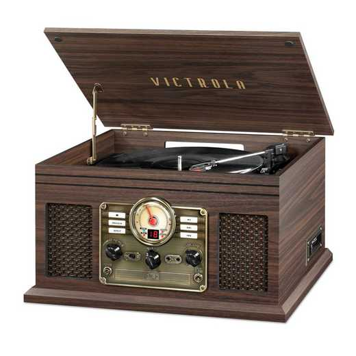VTA-200B-ESP: IT Victrola 6-in-1 Nostalgic BT Record Player/ TT, Expresso