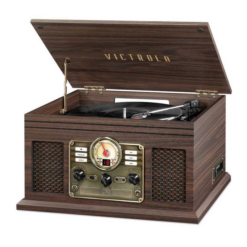 VTA-200B-ESP: IT Victrola 6-in-1 Nostalgic BT Record Player/ TT, Expresso