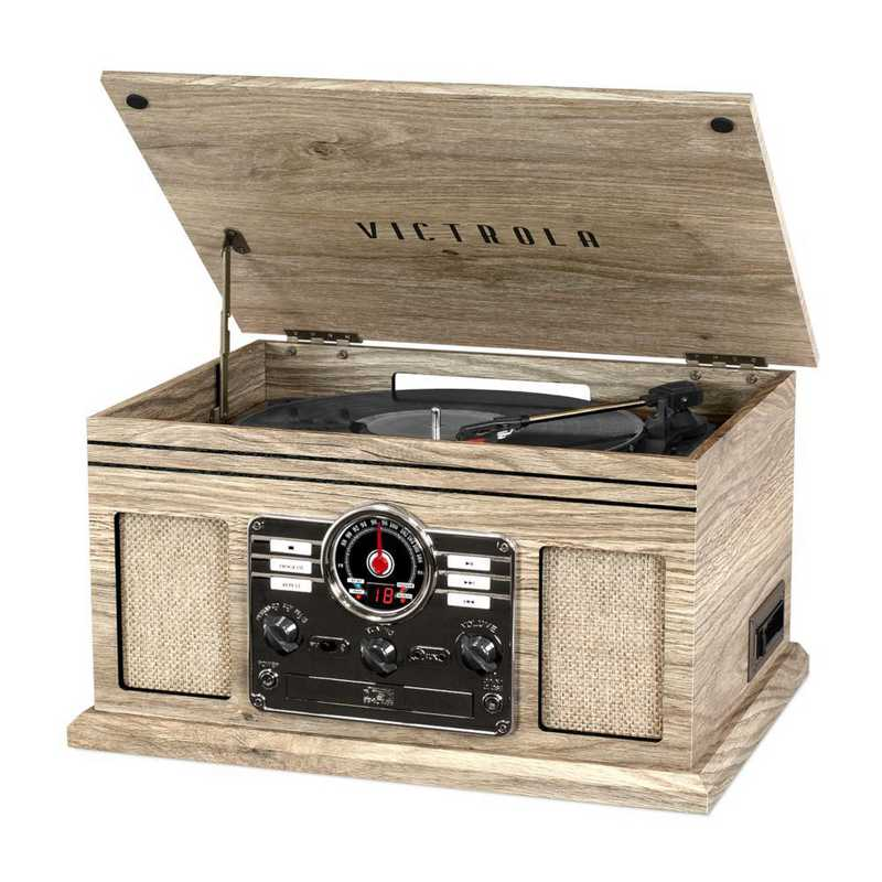 VTA-200B-FOT: Victrola 6in1 Bluetooth Record Player with 3-speed Turntable