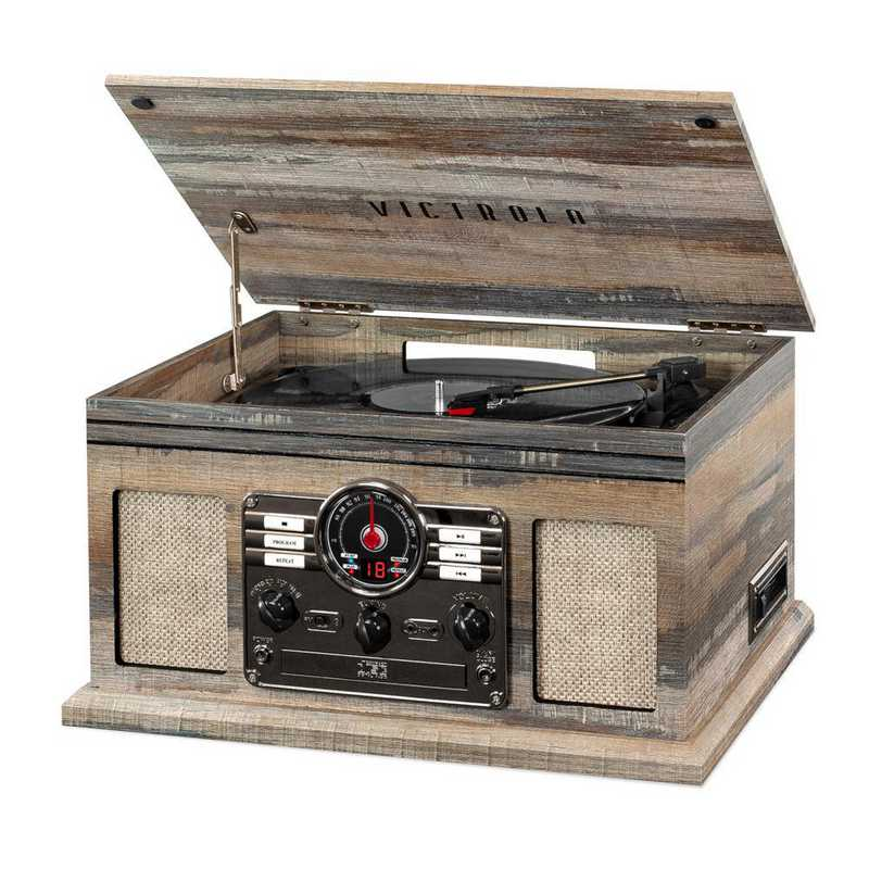 VTA-200B-FSG: Victrola 6in1 Bluetooth Record Player with 3-speed Turntable