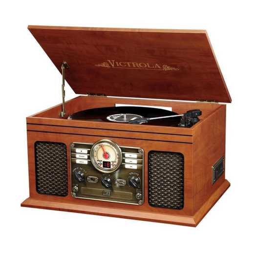 VTA-200B-MAH: IT Victrola 6-in-1 Nostalgic BT Record Player/ TT, Mahogany