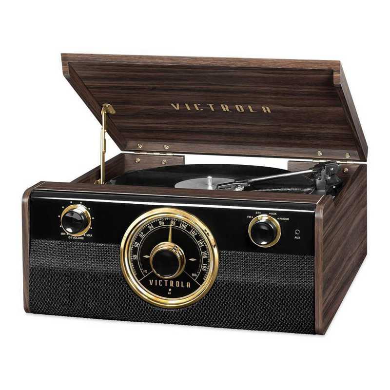 VTA-240B-ESP: IT Victrola Wood BT Mid Cent Record Player, Expresso