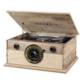 VTA-245B-FOT: Victrola 4-in-1 Bluetooth Turntable with FM Radio