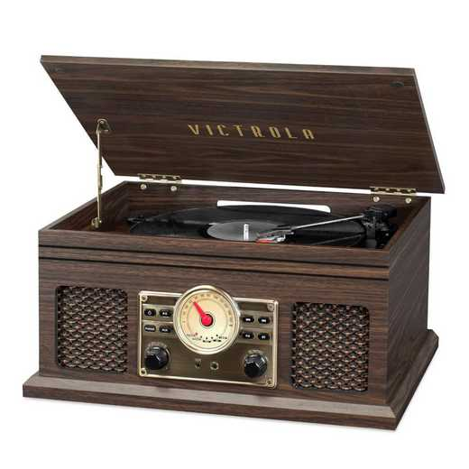 VTA-250B-ESP: Victrola 4in1 Bluetooth Record Player Turntable and FM Radio