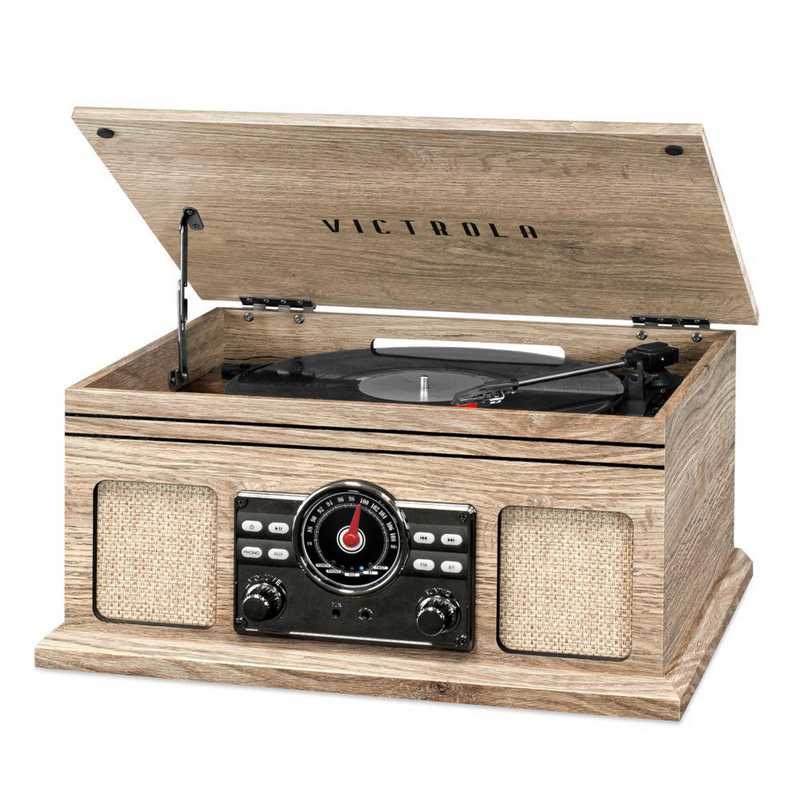 VTA-250B-FOT: Victrola 4in1 Bluetooth Record Player Turntable and FM Radio