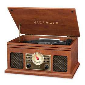 VTA-250B-MAH: IT Victrola 4-in-1 Nostalgic BT Record Player, Mahogany