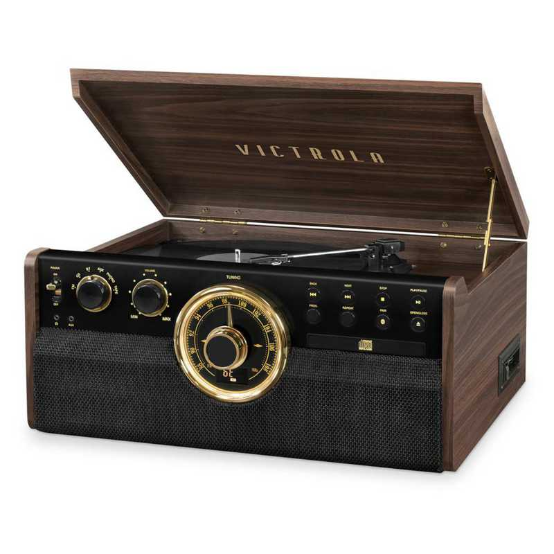 VTA-270B-ESP: IT Victrola 6-in-1 Wood Record Player BT Speak - Expresso