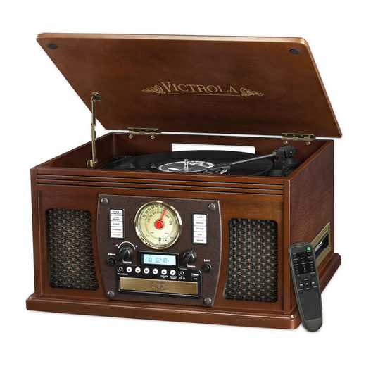 VTA-600B-ESP: IT Victrola Wood 8-in-1 Nostalgic BT Record Player, Expresso
