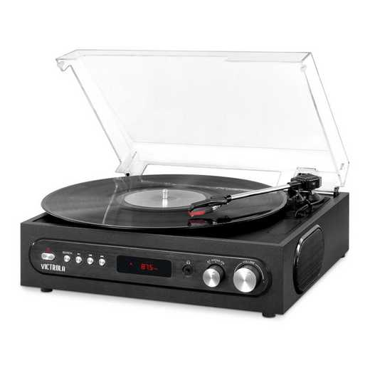 VTA-65-BLK: IT Victrola All-in-1 BT Record Player, Black