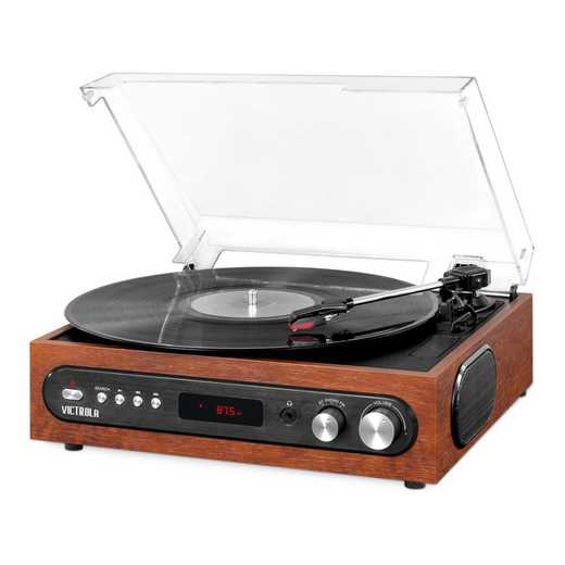 VTA-65-MAH: IT Victrola All-in-1 BT Record Player, Mahogany