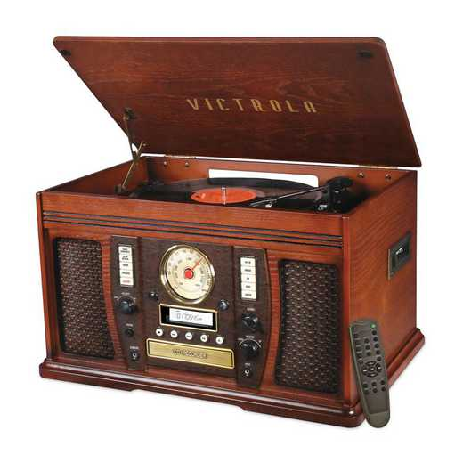 VTA-750B-MAH: IT Victrola Wood 7-in-1 Nostalgic BT Record Player, Mahogany