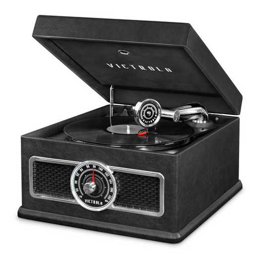 VTA-800B-BLK: IT Victrola 5-in-1 Record Player BT Speak - Blk