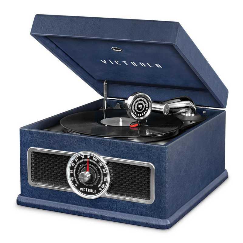VTA-800B-BLU: IT Victrola 5-in-1 Record Player BT Speaker - Blue