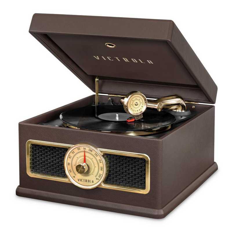 VTA-800B-BRN: IT Victrola 5-in-1 Record Player BT Speak - Brown