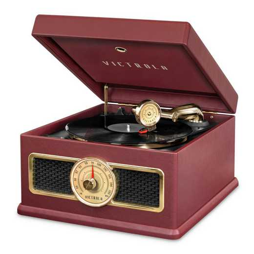 VTA-800B-RED: IT Victrola 5-in-1 Record Player BT Speak - Red