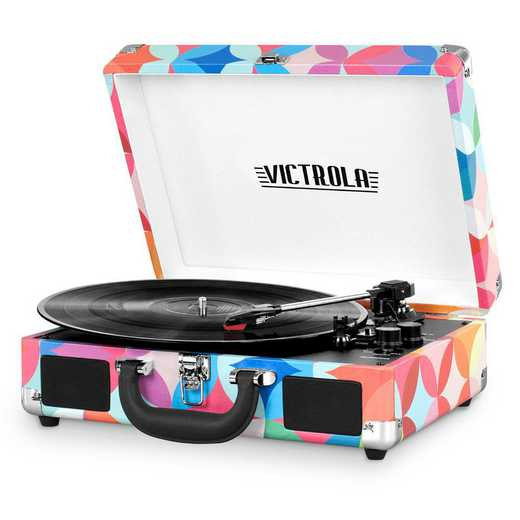 VSC-550BT-P3:  IT Victrola BT Suitcase Record Player with Turntable-P3
