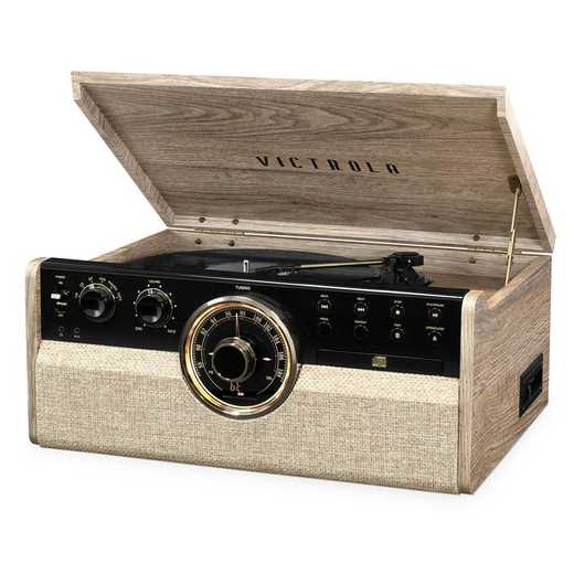 VTA-270B-FOT: Victrola 6-in-1 Wood BT Mid Century RP