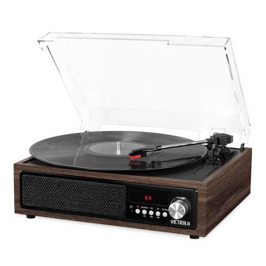 VTA-67-ESP: IT Victrola 3-in-1 BT Record Player Speak and Turn-ESP