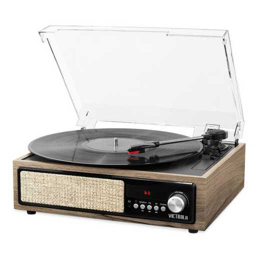 VTA-67-FNT: IT Victrola 3-in-1 BT Record Player Speak and Turn-FNT