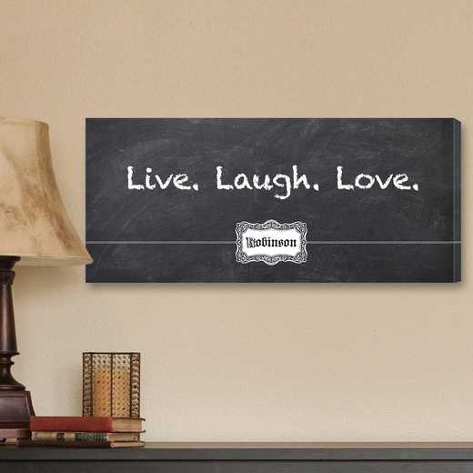 CA0012: JDS CHALKBOARD LIVE LAUGH LOVE CANVAS SIGN-PERS