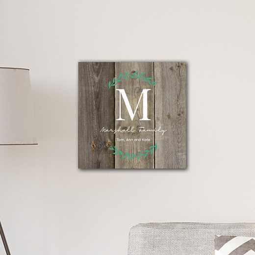 CA0171 WOOD: JDS INITIAL VINE CANVAS WOOD-PERS