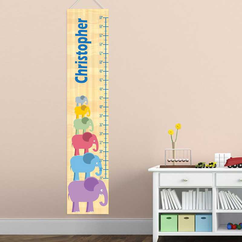 GC925 EBOYSTACK: JDS BOY ELEPHANT STACKING GROWTH CHART- PERS