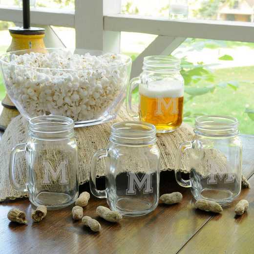 GC943: Personalized Collegiate Glass Jar Set of 4
