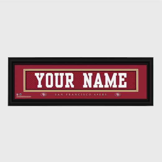 GC1336 49ers : JDS Pers Wall Art - NFL - Stitched Letters - Team Print