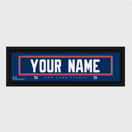 GC1336 Giants : JDS Pers Wall Art - NFL - Stitched Letters - Team Print
