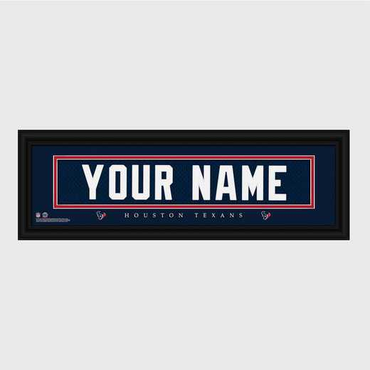 GC1336 Texans : JDS Pers Wall Art - NFL - Stitched Letters - Team Print