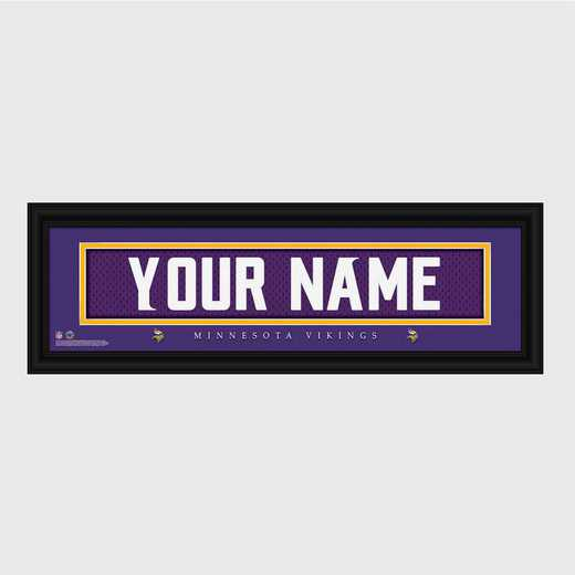 GC1336 Vikings : JDS Pers Wall Art - NFL - Stitched Letters - Team Print