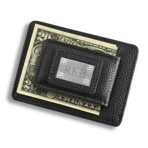 GC1549: Studded Leather Money Clip/Card Holder