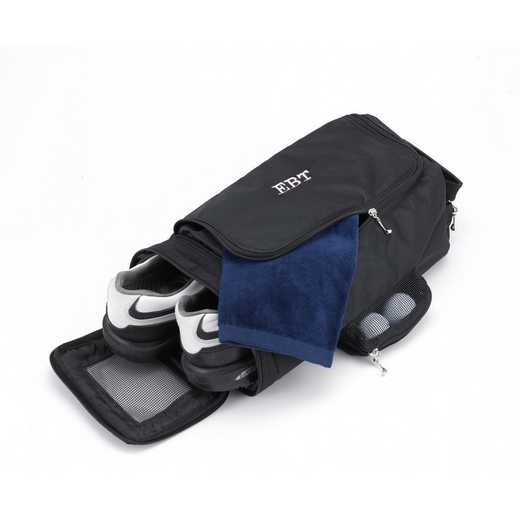 GC663 BLACK: Personalized Golf Shoe Bag