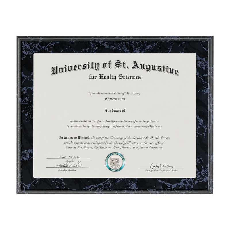 SDN33: JDS BLACK MARBLE DIPLOMA FRAME W/WINDOW 8.5X11