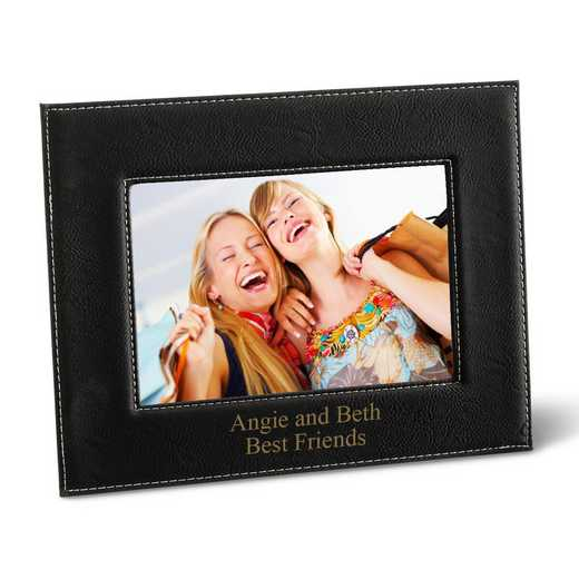 GC1361 BLACK: Personalized Leatherette 5x7 Picture Frame