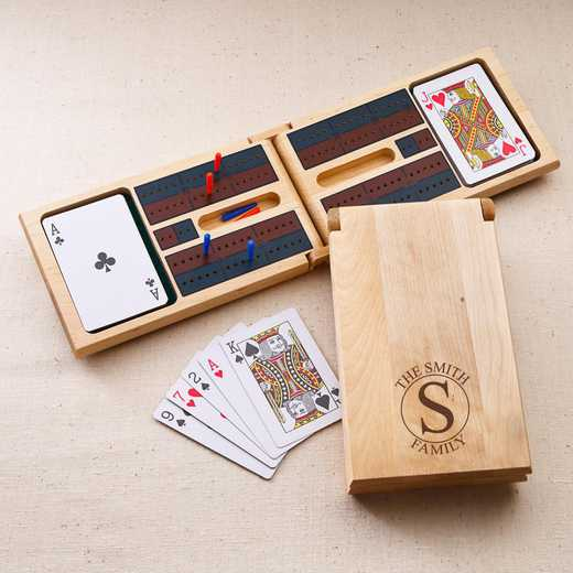 GC1126 Circle: Personalized Cribbage Board Game Circle