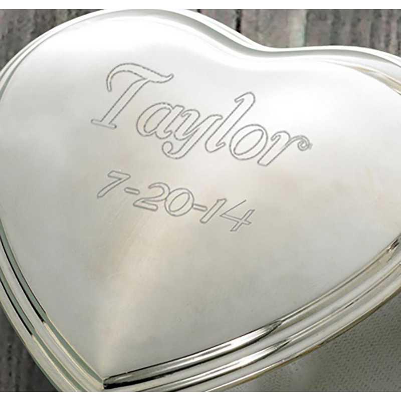 GC132: Personalized Heart Trinket Box