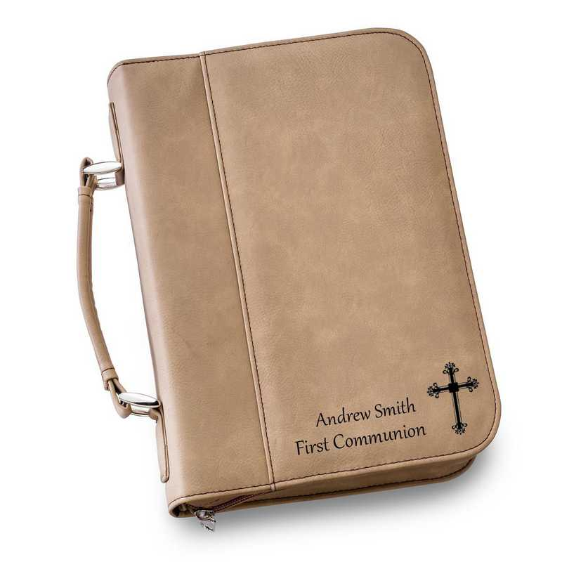 GC1441 Tan: Personalized Large Bible Case TAN