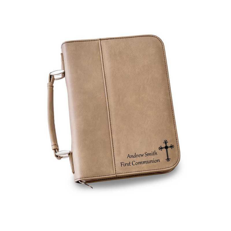 GC1442 Tan : Personalized Small Bible Case TAN