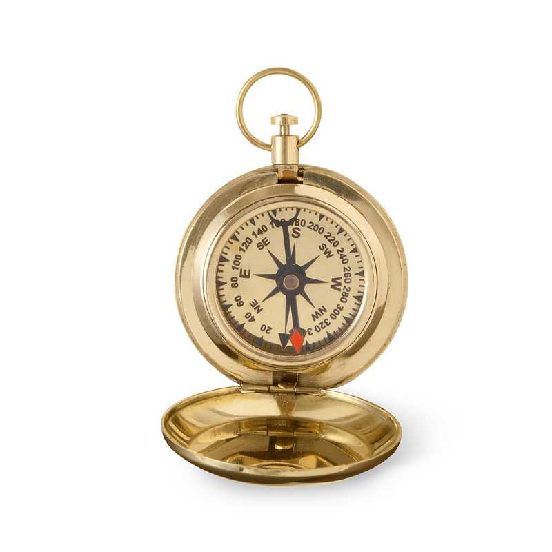 GC1681 3Lines: Personalized High Polished Gold Compass