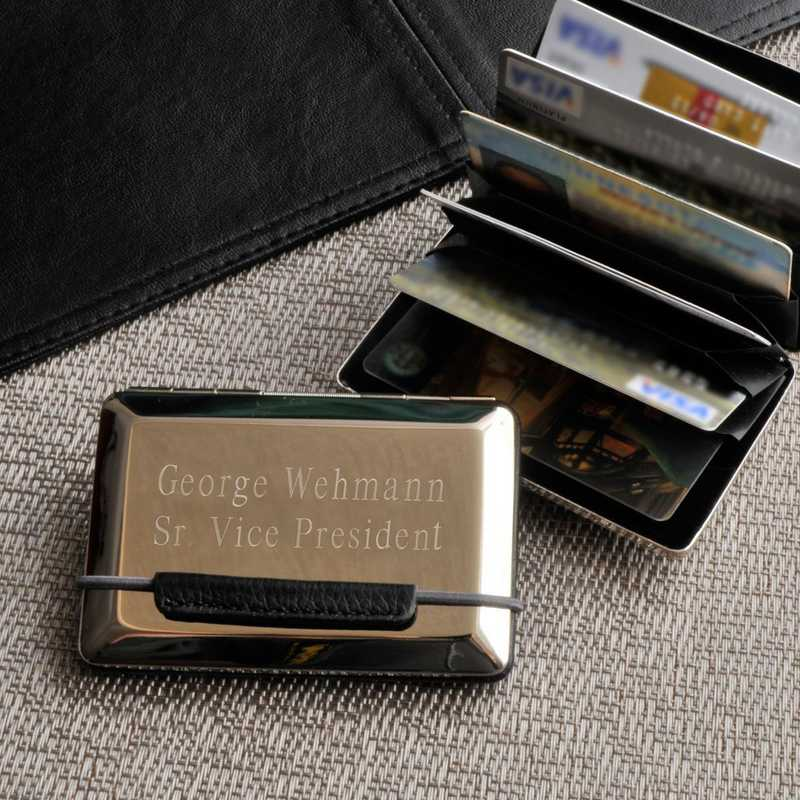 GC778: Personalized Expandable Executive Card Case