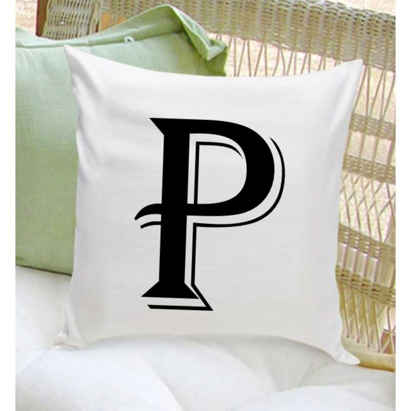 GC1260 CONTEMP: Personalized Initial ThrowPillowContemp