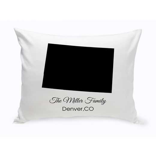 GC1380-CO: Blk Prsnlzed Home St.ThrowPillowColorado