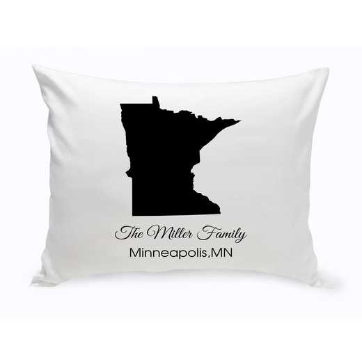 GC1380-MN: Blk Prsnlzed Home StThrowPillowMinnesota