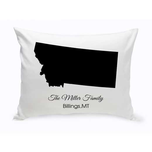 GC1380-MT: Blk Prsnlzed Home St.ThrowPillow Montana