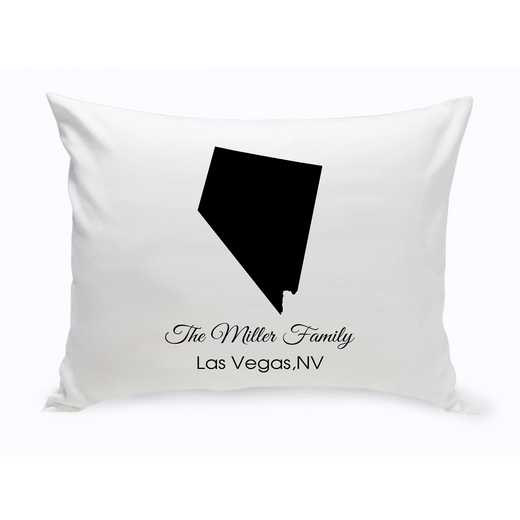 GC1380-NV: Blk Prsnlzed Home St.ThrowPillow Nevada