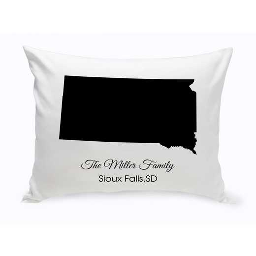 GC1380-SD: Blk Prsnlzed Home St.ThrowPillow SDakota