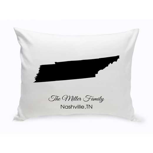 GC1380-TN: Blk Prsnlzed Home StThrowPillowTennessee