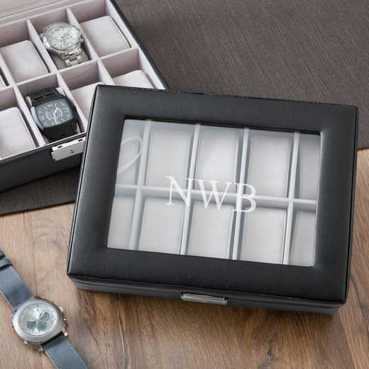 GC1082: Personalized Leather Watch Box